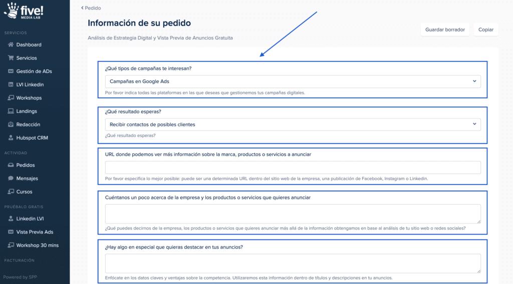 ¿cómo Cargo La Información Para El Análisis Y Vista Previa Gratuita De Mi Estrategia Digital?
