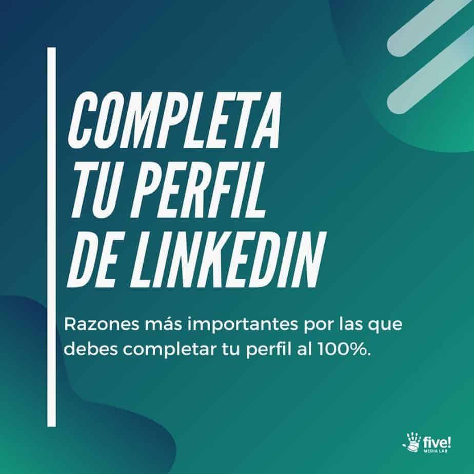completar perfil LinkedIn
