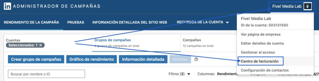 ¿cómo Cargo Mis Datos De Pago En Linkedin Ads?